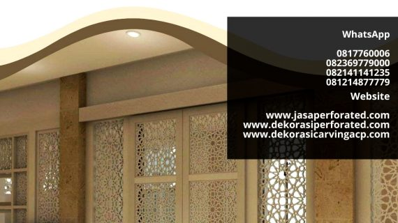 PERFORATED | JASA LASER CUTTING ACP | ALUMUNIUM COMPOSITE PANEL